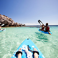 Sea kayaking at The Basin, Rottnest Is.