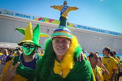 Torcedor brasileiro na partida entre Brasil x Croácia, na abertura da Copa do Mundo 2014, no Estádio Arena Corinthians, em São Paulo. FOTO: Jefferson Bernardes/ Agência Preview