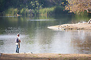 Fishing at Whittier Narrows Recreation Area
