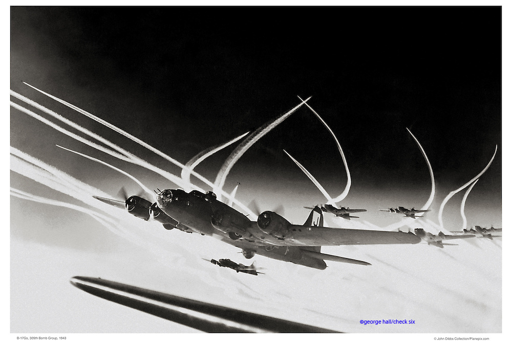 B-17s aerial WWII
