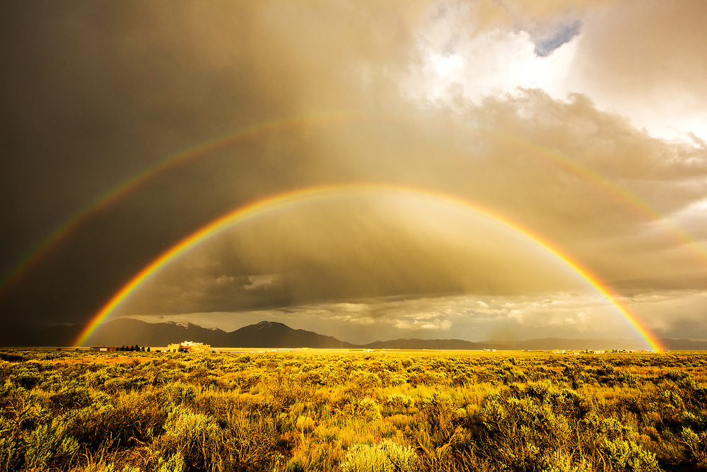 With rain in the forecast, I wished for a birthday rainbow. Mesa Magic ~ May 15, 2016, Taos, New Mexico