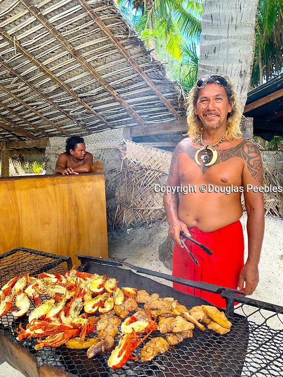 Polynesian Feast, Luau, Bora Bora, Society Islands, French Polynesia; South Pacific