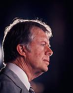 Carter profile portrait in November 1977<br /> Photo by Dennis Brack