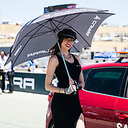 Jun 23  2018  Monterey, CA, U.S.A  SBK girl standing  during the Motul FIM World Superbike Race # 1 at Weathertech Raceway Laguna Seca  Monterey, CA  Thurman James / CSM