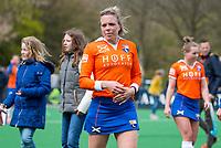 BLOEMENDAAL - Kate Richardson-Walsh (Bl'daal)  na   hockey hoofdklasse competitiewedstrijd dames, Bloemendaal-Laren (1-3) .   COPYRIGHT KOEN SUYK