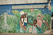 Painted mural in the Bahama Village section of Key West, Florida.