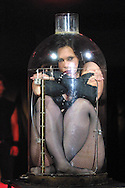 Preview photographs of the Circus of Horrors which opens on the Edinburgh Festival Fringe tonight and runs until 27th August at Leith Links. Picture shows performer Satanica (Nicci Christian) who pours herself into a bottle during the show..........
