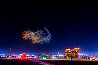 Organic Shapes at The Drone LightShow - https://Duncan.co/Burning-Man-2021