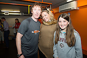 13/09/2015  Hector OhEochagain  with Jocelyn and Ellen Cunningham at the official opening of the body works  a gym in Galway city.<br /> Photo:Andrew Downes, xposure<br /> <br /> The Body Works Galway is Galway's newest fitness studio. We are located adjacent to Parkmore in Briarhill Business park about a seven minute walk from the Parkmore Industrial Estate and Briarhill Shopping Centre.<br /> <br /> The fitness studio consists of a spinning studio at ground floor and a fitness studio at first floor where we provide classes in Kettlebells, Pilates, Yoga,TRX, Body Pump and Circuits . We have 16 spinning bikes (cardio machines) in our spinning studio.
