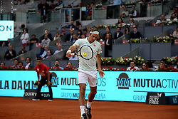 May 7, 2019 - Madrid, Spain - Roger Federer (SUI) in his match against Richard Gasquet (FRA) during day four of the Mutua Madrid Open at La Caja Magica in Madrid on 7th May, 2019. (Credit Image: © Juan Carlos Lucas/NurPhoto via ZUMA Press)
