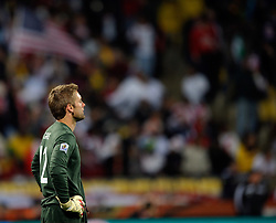 12.06.2010, Sandton - Nelson Mandela Square, Johannesburg, RSA, FIFA WM 2010, 3D television, im Bild Robert Green of England looks on after his mistake gives the USA an equaliser, EXPA Pictures © 2010, PhotoCredit: EXPA/ IPS/ Mark Atkins / SPORTIDA PHOTO AGENCY