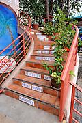 Stairway with messages. Kailua-Kona, Big Island, Hawaii