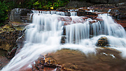 Cascade on Virginia Creek, Glacier National Park, Montana USA