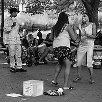 At the Sunday session of the NYC Central Park Drumming Circle