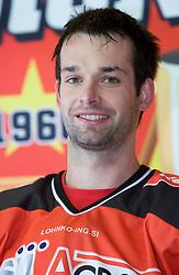 Philippe Jean Pare, member of HK Acroni Jesenice ice-hockey team for season 2008/2009 at official photo shooting in Arena Podmezaklja, Jesenice, on September 24, 2008. (Photo by Vid Ponikvar / Sportal Images)