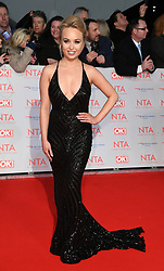 Jorgie Porter attending the National Television Awards 2018 held at the O2, London. Photo credit should read: Doug Peters/EMPICS Entertainment