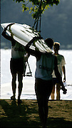Barcelona Olympics 1992 - Lake Banyoles, SPAIN,  GV's Boating area. Photo: Peter Spurrier.       {Mandatory Credit: © Peter Spurrier/Intersport Images].
