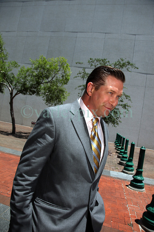 13 June 2012. New Orleans, Louisiana,  USA. .Actor Stephen Baldwin at federal court in New Orleans where he suing actor Kevin Costner for allegedly bilking investors of millions of dollars from his oil/water separating business Ocean Therapy Solutions. Costner's partners, among them the actor Stephen Baldwin sold their shares in the company before Costner allegedly struck a deal with BP to purchase the oil/water separators, without advising his business partners that he had already done the deal. Baldwin and his fellow investor, Contogouris are suing Costner for $21 million. The case continues..Photo; Charlie Varley.