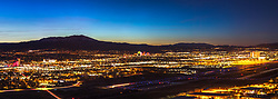 """""""Reno, Nevada 2"""" - Panoramic photograph of Reno, Nevada shot shortly after sunset."""