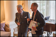 NICKY HASLAM; JACK ENGLISH, Nicky Haslam hosts a party to launch a book by  Maureen Footer 'George Stacey and the Creation of American Chic' . With a foreword by Mario Buatta. Kensington. London. 11 June 2014