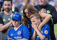Football - 2016 / 2017 Premier League - Chelsea vs. Sunderland <br /> <br /> John Terry's son cries as his father is applauded around the stadium at Stamford Bridge.<br /> <br /> COLORSPORT/DANIEL BEARHAM