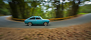 Custom made Type 3 VW at rural road.