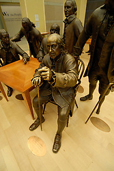 National Constitution Center, signers, Ben Franklin, sculptures of..Philadelphia, Pennsylvania, PA USA.  Photo copyright Lee Foster, 510-549-2202, lee@fostertravel.com, www.fostertravel.com.  Photo 285-30592