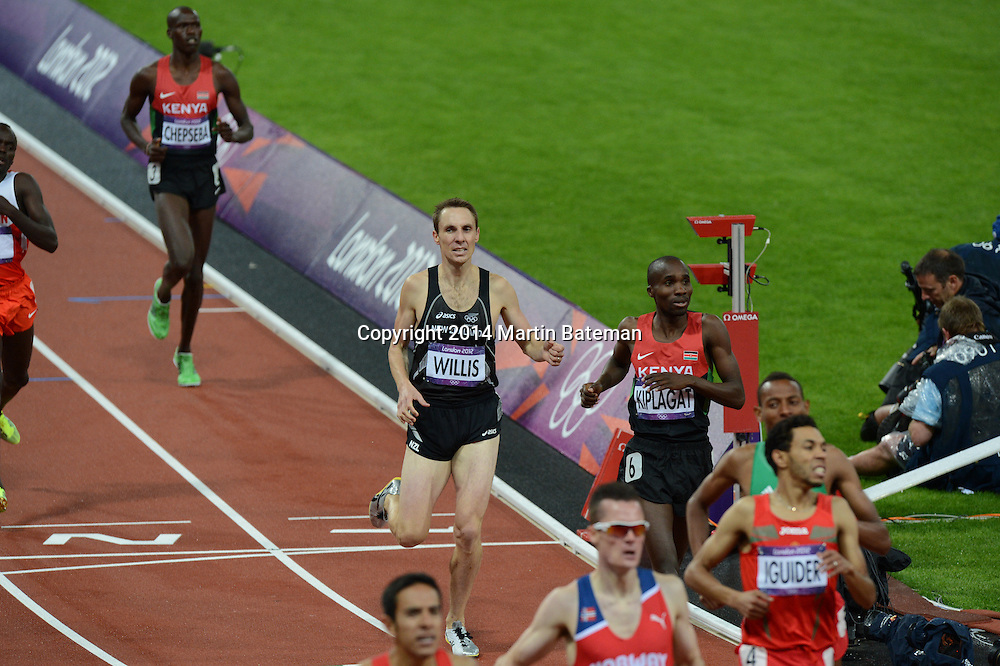 Commonwealth Champion Nick Willis Competes in the men's 1500m at the London Olympics, 6th August 2012