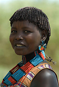Themay Woman, Themay Tribe Village, Omo Valley, Ethiopia, portrait, person, one, tribes, tribal, indigenous, peoples, Southern, ethnic, rural, local, traditional, culture, primitive,