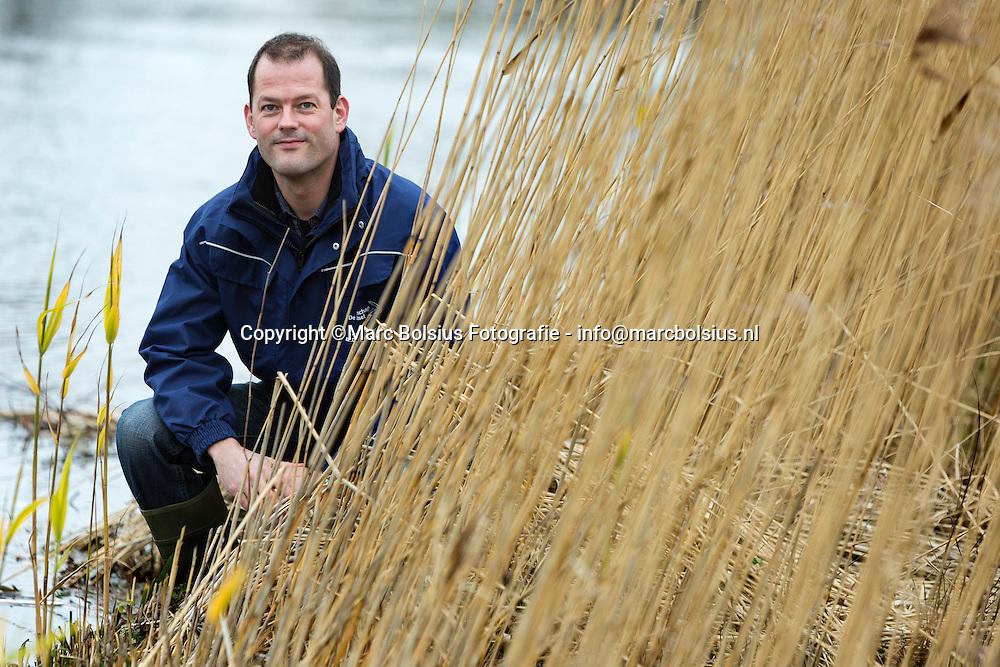 Nederland, Boxtel,hydroloog Mark van der Wouw is in Engeland geweest bij premier Cameron om de watersituatie in kaart te brengen