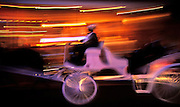 Image of a horse and buggy ride at the Mardi Gras celebration in the French Quarter of New Orleans, Louisiana, American South by Randy Wells