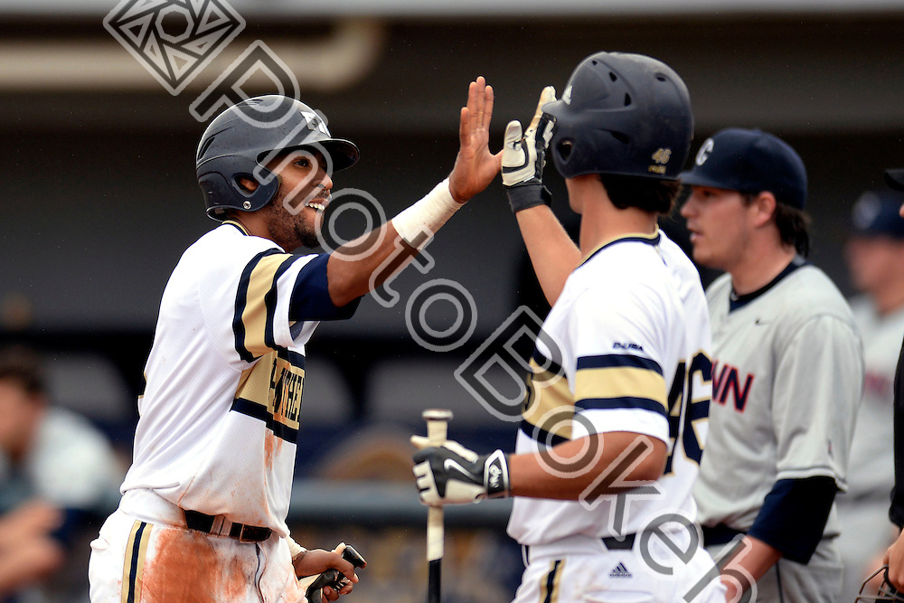 2015 March 08 - FIU's Julius Gaines (2). <br /> Florida International University defeated University of Connecticut, 6-2, at FIU Baseball Stadium, Miami, Florida. (Photo by: Alex J. Hernandez / photobokeh.com) This image is copyright by PhotoBokeh.com and may not be reproduced or retransmitted without express written consent of PhotoBokeh.com. ©2015 PhotoBokeh.com - All Rights Reserved