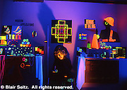 Day Glo displays, North Museum, Franklin and Marshall College, Lancaster, PA