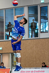 Sam Gortzak #1 of Lycurgus in action during the supercup final between Amysoft Lycurgus - Active Living Orion on October 04, 2020 in Van der Knaaphal, Ede