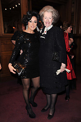 Left to right, NANCY DELL'OLIO and RAINE, COUNTESS SPENCER at 'Homage to Nureyev' a tribute to the legendary ballet dancer Rudolf Nureyev performed at the ENO, London COliseum, St.Martin's Lane, London on 21st March 2010.
