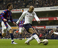 Picture: Henry Browne.<br /> Date: 03/01/2004.<br /> Tottenham Hotspur v Crystal Palace FA Cup 3rd Round.<br /> Stephane Dalmat puts in across that is finished off by Freddie Kanoute and makes it 2-0.