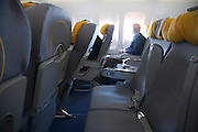 many empty seats in a commercial passenger airplane