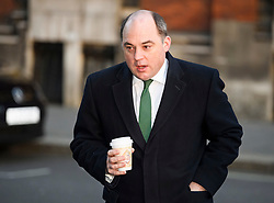 © Licensed to London News Pictures. 14/02/2019. London, UK. Security Minister BEN WALLACE is seen in Westminster, on the day that MPs are due to take part in further debates and votes on Brexit. A series of amendments are being tabled to try to change the direction of Brexit, but a vote on a deal will not be held today as was originally planned. Photo credit: Ben Cawthra/LNP