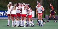 AERDENHOUT - Vreugde na een doelpunt Meisjes C1 bij hockeyclub Rood-Wit in Aerdenhout. COPYRIGHT KOEN SUYK