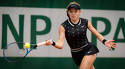 May 23, 2019 - Paris, FRANCE - Katie Swan of Great Britain in action during the second qualifications round at the 2019 Roland Garros Grand Slam tennis tournament (Credit Image: © AFP7 via ZUMA Wire)