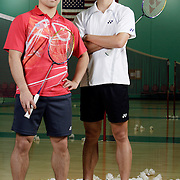 ORANGE, CA, January 3, 2008: Top badminton players, including Howard Bach, left, and Bob Malaythong, train at the Orange County Badminton Club in Orange, California and are sure bets to make Team USA.