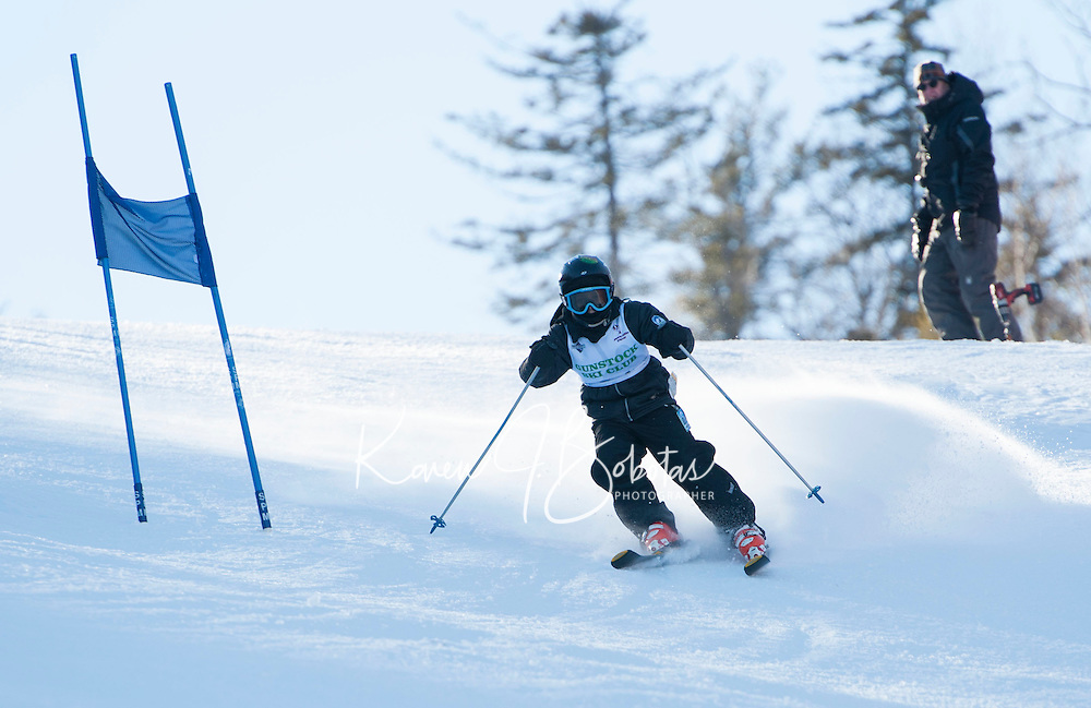 Gunstock Ski Club's U8 and U10 race day.