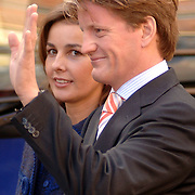 NLD/Wassenaar/20051119 - Doop van prinses Alexia, Prins Pieter-Christiaan van Oranje-Nassau en partner Prinses Anita van Eijk