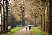Nederland, Terborg, 11-11-2020  Landschap in de Achterhoek . Twee oudere vrouwen lopen door een bomenlaan .Foto: ANP/ Hollandse Hoogte/ Flip Franssen
