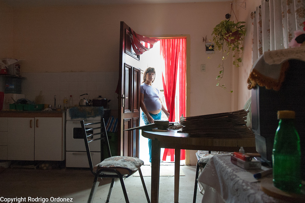 Susana Giménez, 34, has two kids from a former marriage and is expecting a third one from her partner, Carlos Tolosa. She works from home, assembling paper bags.<br /> In Ocho de Mayo, 80 percent of the residents earn a small income as 'cartoneros', collecting cardboard and plastics in the street, or doing odd jobs.