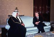 President Carter and Crown Prince Fahd. visit on Carter's to Saudi Arabia