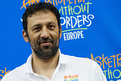 Vlade Divac of Serbia (Los Angeles Lakers, Charlotte Hornets, Sacramento Kings and member of FIBA Hall of Fame) at Basketball Without Borders for prospects under 17 with best coaches and some NBA legends on August 8, 2011, in Hala Tivoli, Ljubljana, Slovenia. (Photo by Matic Klansek Velej / Sportida)