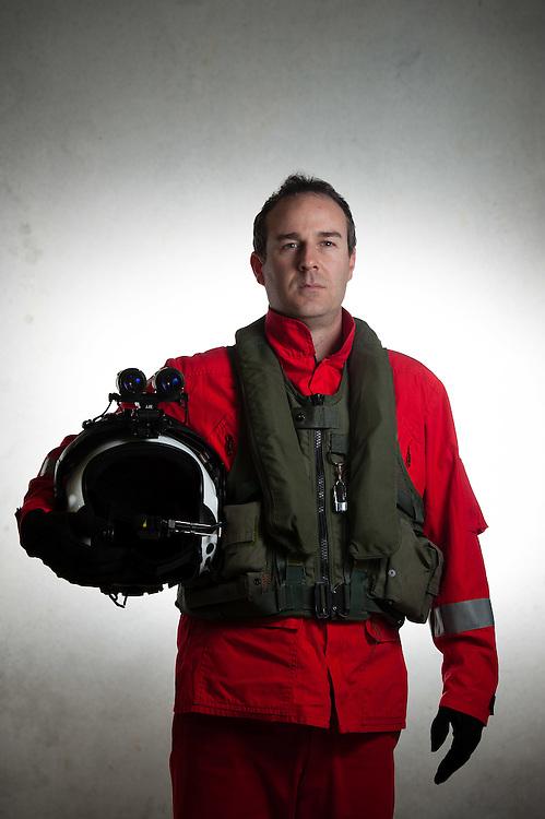 Portrait of Julian Burn - Life Flight Trust's Westpac Rescue Helicopter.  Monday June 18, 2012..Photo by Mark Tantrum | www.marktantrum.com