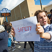 Students at El Camino Real High School in Woodland Hills, California were supported by parents and community members when they walked out at 10am on Wednesday, March 14, 2018 as part of a nationwide walkout against guns. The national protest was held one month to the day after 17 students were shot and killed at Marjory Stoneman Douglas High School in Parkland, Fla.