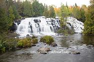 64797-00604 Bond Falls in fall, Ontonagon County, MI